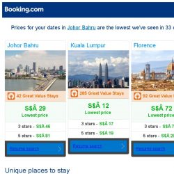 [Booking.com] Prices in Johor Bahru are the lowest we've seen in 33 days!