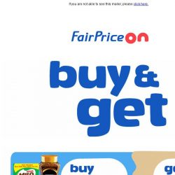 [Fairprice] Want a free gift with your purchase?