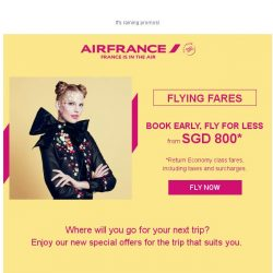[AIRFRANCE] Far Horizons at your fingertips from SGD 800