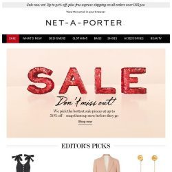 [NET-A-PORTER] Best of sale: Snap up our editor's favorite dresses, tops and sandals now