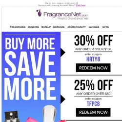 [FragranceNet] Your excuse to SPLURGE: Up to 30% Off!