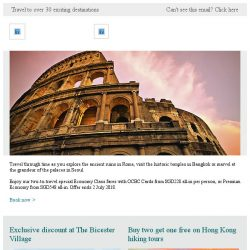 [Cathay Pacific Airways] Special fares from SGD228 all-in with OCBC Cards