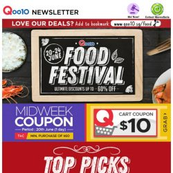 [Qoo10] Visit Food Festival with Huge Discounts Up to 60% Off Now! Bak Kut Teh Bundle with NEW Dishes, Durian Mochi & Much More!