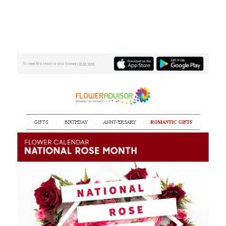 [Floweradvisor] For every queen in your life a bouquet of roses in National Rose Month would be perfect
