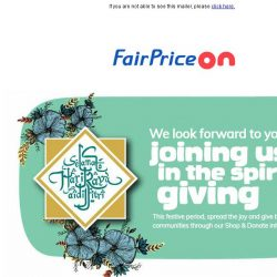 [Fairprice] , Donate Groceries & Do Good With Us