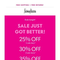 [Neiman Marcus] Last chance! Extra 35% off 3+items