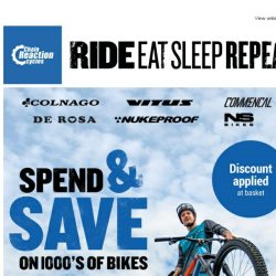 [Chain Reaction Cycles] Save up to £600 on a BRAND NEW Bike