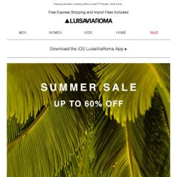 [LUISAVIAROMA] Dive into summer with up to 60% off