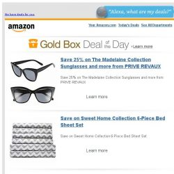 [Amazon] Save 25% on The Madelaine Collection Sunglasses...