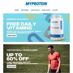 [MyProtein] ⚠️Final Chance! Extra $20 Off + Up to 60%