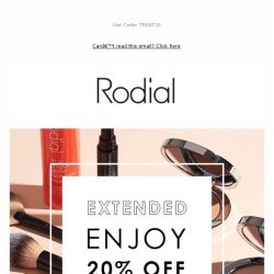 [RODIAL] 20% Off: Now Extended 💗