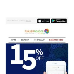[Floweradvisor] Special Gift for Special One with Special Discount. Time to Express Your Love!