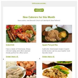 [CaterSpot] Check out this month's new caterers
