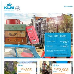 [KLM] Take-off Deals are still available! Don't miss out!