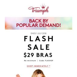 [Triumph] ⚡️ FLASH SALE - Back by Popular Demand!