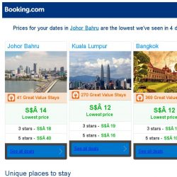 [Booking.com] Prices in Johor Bahru are the lowest we've seen in 4 days!