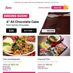 [Fave] ENDING SOON: 6'' All Chocolate Cake From Awfully Chocolate! ☛