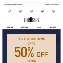 [Mdreams] Melissa triple offers are here. 1 week only!