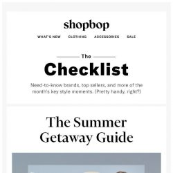 [Shopbop] Our favorite fashion moments this month