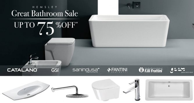 Hemsley The Great Bathroom Sale 2018 With Up To 75 Off Designer Wcs Basins Tap Fittings Showers More Till 19 Jun 2018 Bq Sg Bargainqueen