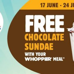 Burger King: FREE Chocolate Sundae with Purchase of WHOPPER® Value Meal!