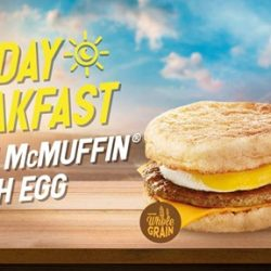McDonald's: Hot Favourite Sausage McMuffin® with Egg Now Available All Day