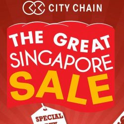 City Chain: The Great Singapore Sale with Up to 60% OFF, $188 Special Buys, $99 2nd Pc & Prices as Low as $38!
