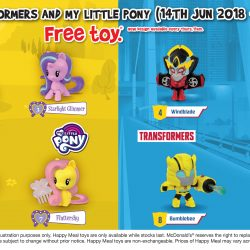 McDonald's: FREE Transformers or My Little Pony Toy with Every Happy Meal Purchased