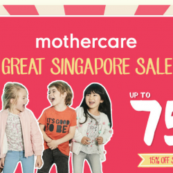 Mothercare: Great Singapore Sale with Up to 75% OFF & 15% OFF Storewide