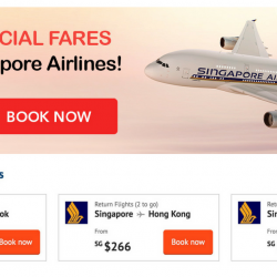 ZUJI: Singapore Airlines Special Fares to Bangkok, Hong Kong, Tokyo, Seoul & More from only $199!