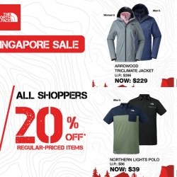 The North Face: Great Singapore Sale with Up to 25% OFF Regular-Priced Items