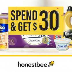 Honestbee: Spend $30 or More on Groceries & Get Back $30 in Vouchers!