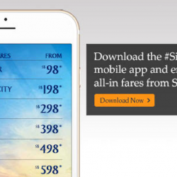 Singapore Airlines: Enjoy Exclusive Singapore Air Mobile App Fares from SGD98!