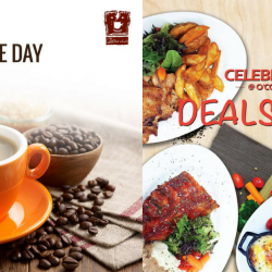 O'Coffee Club: Enjoy $1 Coffee of the Day & Deals for 2 from $24.90!