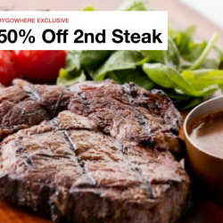 Dallas Boat Quay: HungryGoWhere Exclusive - 50% Off 2nd Steak!