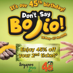 Singapore Zoo: Local Residents Enjoy 45% OFF 2nd Ticket Admission!