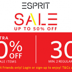 Esprit: Sale Up to 50% OFF with Extra 40% OFF Min. 2 Sale Items & 30% OFF Min. 2 Regular-Priced Items!