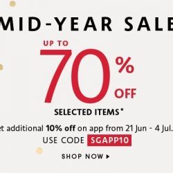 Sephora Singapore: Mid-Year Sale with Up to 70% OFF + Additional 10% OFF on App with Coupon Code!