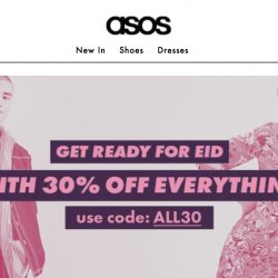 ASOS: 30% OFF Everything with Coupon Code!
