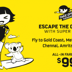 Scoot: Take Off Tuesday with Promo Fares to India & Australia from just SGD99!