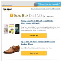 [Amazon] Today only: Up to 85% off select Kindle...