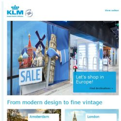 [KLM] Shopping destinations on sale