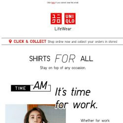 [UNIQLO Singapore] Shirts For All