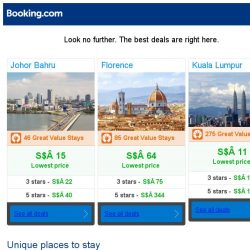 [Booking.com] Johor Bahru, Florence, or Kuala Lumpur? Get great deals, wherever you want to go