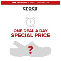 [Crocs Singapore] 【1 DEAL 1 DAY 】 Find out what's 60% off today!