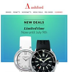 [Ashford] This week's specials – weekly deals on Ashford