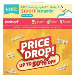 [Redmart] Price drop on your family favourites 🙌