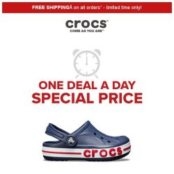 [Crocs Singapore] 【1 DEAL 1 DAY 】 Kids' Bayaband Clogs 50% off today ONLY!