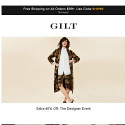 [Gilt] Extra 40% Off: The Designer Event | Extra 40% Off: Missoni Accessories and More Start Now