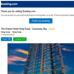 [Booking.com] The Empire Hotel Hong Kong - Causeway Bay – are you still interested in staying?